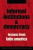 9780801883514 : informal-institutions-and-democracy-helmke-levitsky