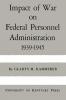 9780813152981 : impact-of-war-on-federal-personnel-administration-kammerer