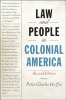 9781421434599 : law-and-people-in-colonial-america-2nd-edition-hoffer