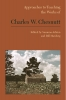 9781603293310 : approaches-to-teaching-the-works-of-charles-w-chesnutt-ashton-hardwig