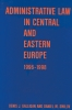 9789639116405 : administrative-law-in-central-and-eastern-europe-galligan-smilov